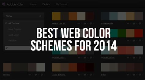 best color combinations for websites web design best web color schemes for 2014 the dill design