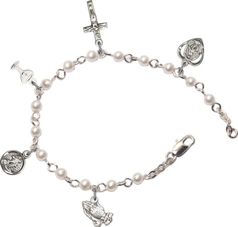 religious charms for jewelry silver holy communion religious charm bracelet