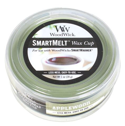 scented wax applewood smartmelt scented wax cup by woodwick