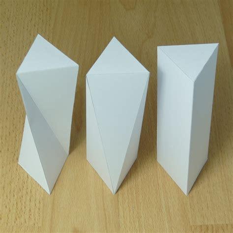 rectangular prism origami twisted triangular prism triangular antiprism