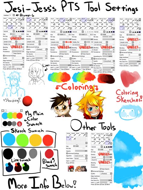 paint tool sai update paint tool sai tools and swatches v2 by jesi jess on