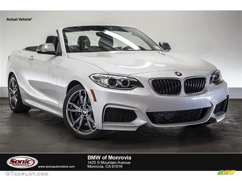 Mineral White Bmw by 2015 Mineral White Metallic Bmw 2 Series M235i Convertible
