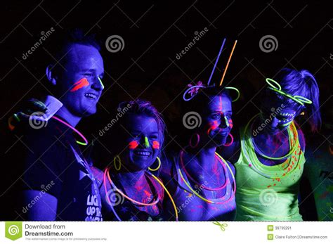 glow in the paint south africa glow run port elizabeth 2014 south africa editorial photo