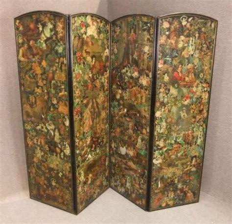 antique decoupage folding decoupage dressing screen antiques atlas