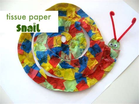 tissue paper arts and crafts for the 25 best ideas about snail craft on circle