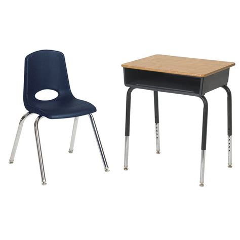 desks and chairs for ecr4kids classroom package 6 open front desks 6 chairs