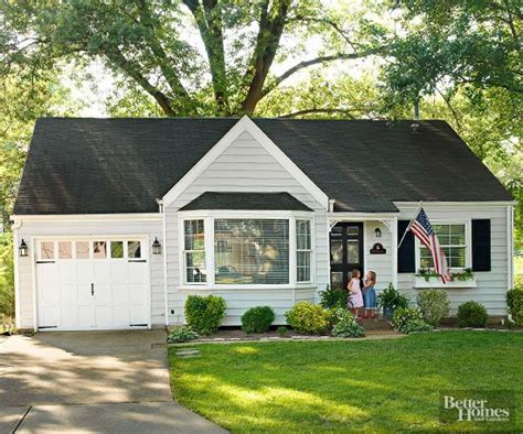 before after modern cottage in before and after small home exterior makeovers