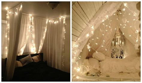 string lighting for bedrooms 23 amazing canopies with string lights ideas bedrooms