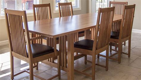 style dining room 7 pieces cherry mission style dining room set with