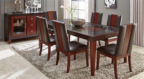 how to set dining room table sofia vergara savona chocolate 5 pc rectangle dining room