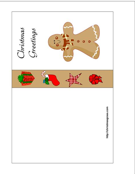 printable card websites for free gingerbread template printable free new calendar