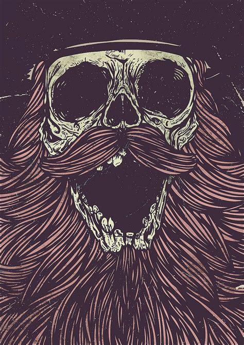 skull beard pin by varulv kvinna on beards