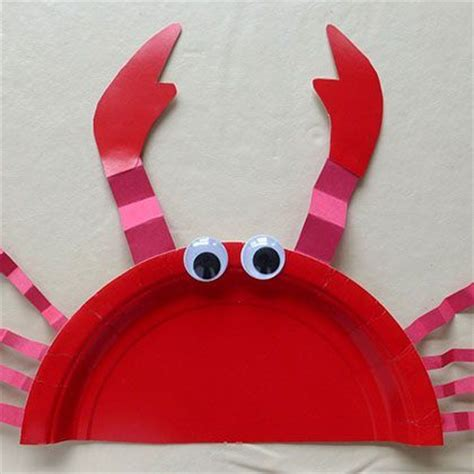 crab paper plate craft paper plate crab assiette