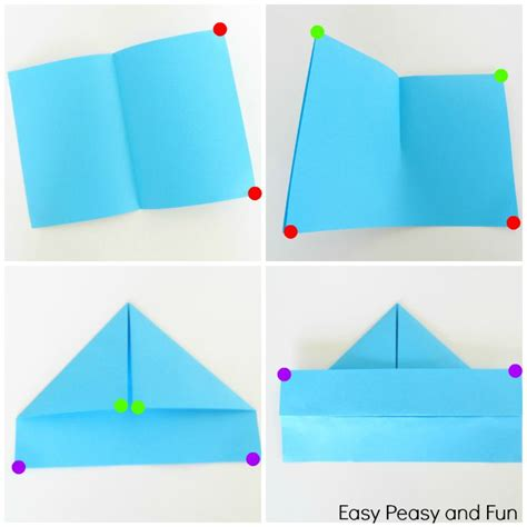 origami boat step by step how to make a paper boat origami for easy peasy