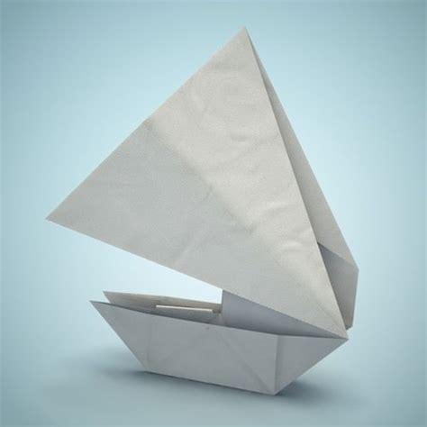 3d origami boat 3d model origami boat cgtrader