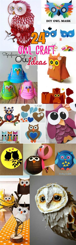 owl craft ideas for diy birds craft 24 easy paper owl craft ideas for