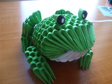 3d origami frog frog album mindaugas 3d origami