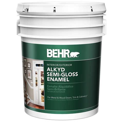 home depot semi gloss paint colors behr premium plus ultra 5 gal ultra white semi gloss