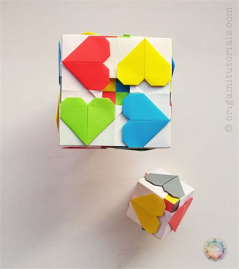 paper cubes origami origami hearty cube origami tutorials
