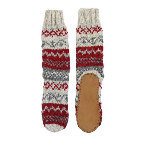 knit slipper socks knit slipper socks with faux suede sole by aura que