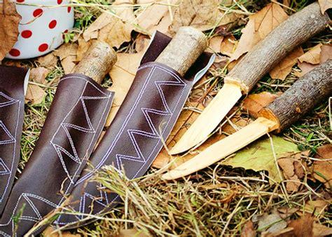 bush craft for wooden bushcraft play knife sheath