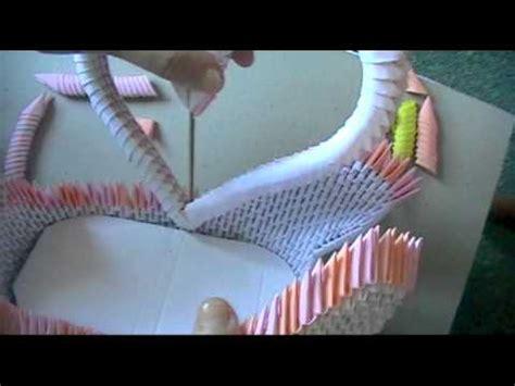 3d origami swan boat link 3d origami swan loveboat part 3