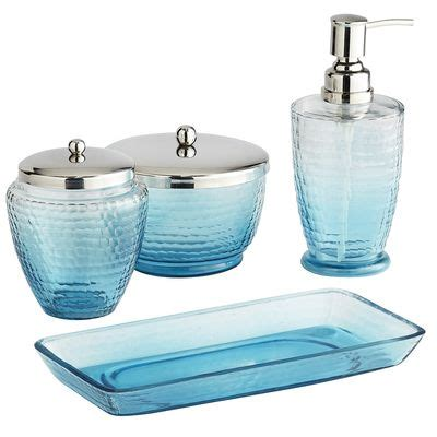 pink and blue bathroom accessories blue ombre bath accessories decor by color