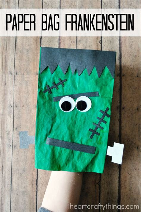 craft with paper bags paper bag frankenstein craft for i crafty things