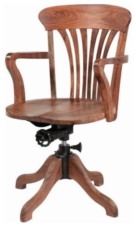 wooden swivel chair desk chairs swivel home decoration ideas