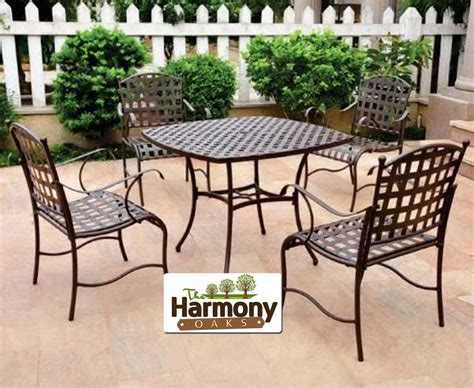 metal patio dining sets patio furniture dining set outdoor clearance iron metal