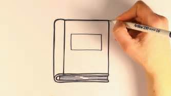 how to draw a picture of a book how to draw a book