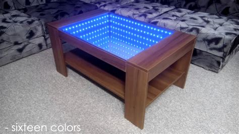 how are coffee tables infinity mirror coffee table self made