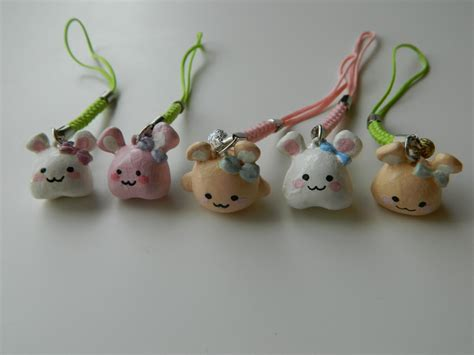 with polymer clay rabbit polymer clay charms by sagwalii on deviantart