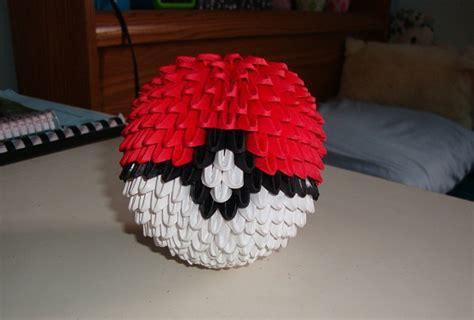 how to make an origami pokeball pin 3d origami pokeball on