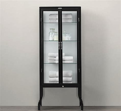 metal storage cabinet with glass doors glass cabinets for a chic display