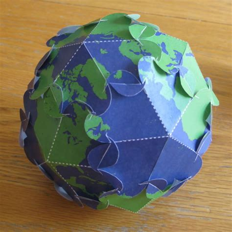 globe craft puzzle earth globe for free papercraft