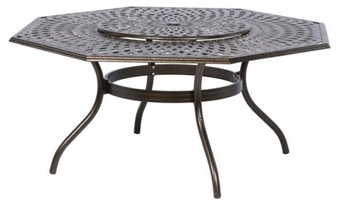 hexagon patio table alfresco home kingston weave 71 in hexagon patio dining