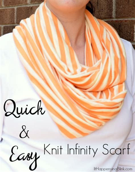 how to knit a scarf quickly and easy knit infinity scarf