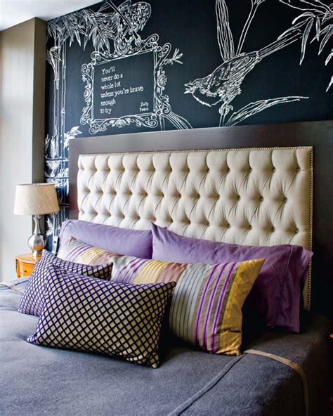 chalkboard paint headboard mix and chic ideas for customizing your wall using a