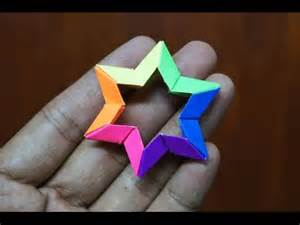 origami 6 pointed modular origami how to make modular 3d 6 point