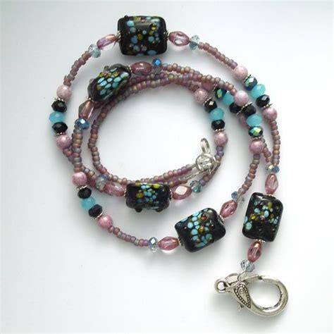 beaded lanyards for badges 166 best beaded id badge lanyards images on