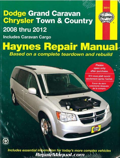 motor auto repair manual 2010 dodge caravan regenerative braking dodge grand caravan chrysler town country van 2008 2012 haynes car repair manual