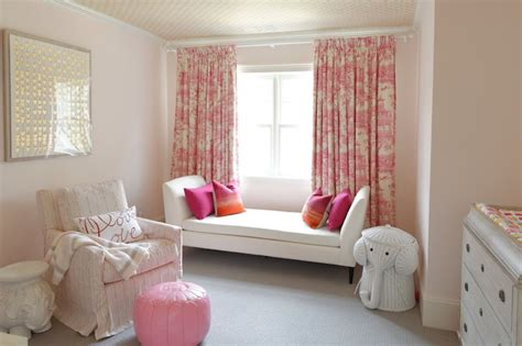 white and pink nursery curtains pink toile curtains transitional nursery meredith