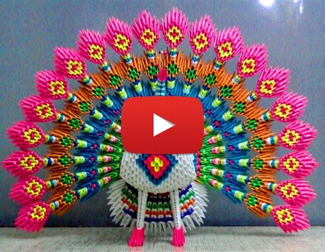 Pleasing 3d Origami Peacock 2016