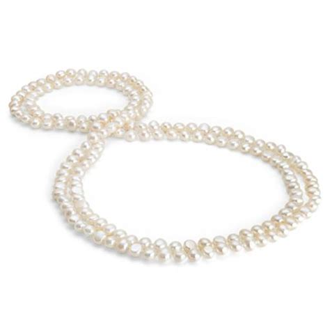 cultured pearl three strand baroque freshwater cultured pearl necklace