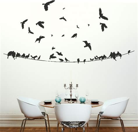 birds wall stickers birds on a powerline