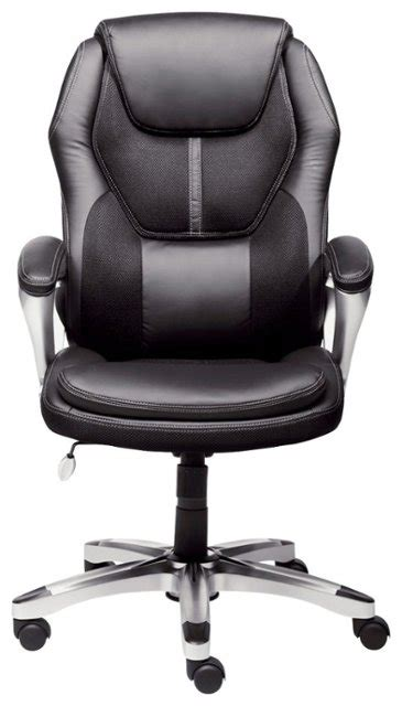 Best Buy Chair by Serta Executive Office Chair Black 43673 Best Buy