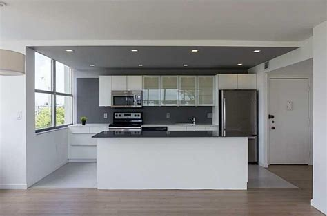 new kitchen island modern kitchen with one wall high ceiling in miami fl