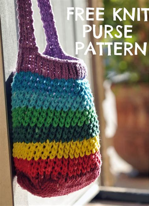 how to knit a purse learn how to knit a rainbow cross bag knit purse