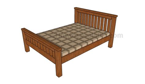 fullsize bed frame size bed frame plans howtospecialist how to build